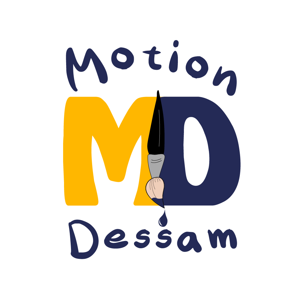 logo motion dessam fond transparent
