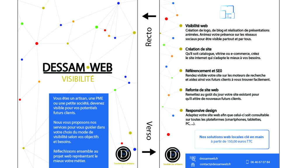 visuel design graphique flyer dessam web